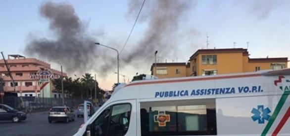 Momenti di panico a Salerno per un rogo propagatosi a Fuorni