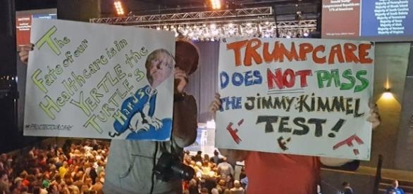Ohioans against 'Trumpcare'. / [Image by Becker 1999 via Flickr, CC BY 2.0]