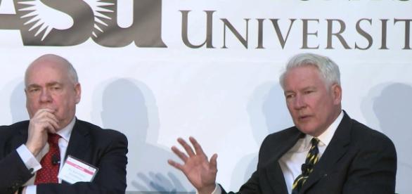 Prof. Bobbitt believes Trump will eventually resign as president. Photo via New America, YouTube.