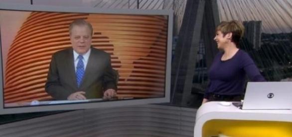 Apresentadora da Globo tira um sarro da gravata de Chico Pinheiro