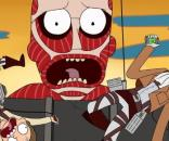 Rick and Morty in dimension AoT-845 [Image source: Youtube Screen grab]