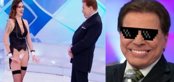 """Dançarina apresenta número no quadro """" Vale Tudo"""" do Silvio Santos (Foto: Google)"""