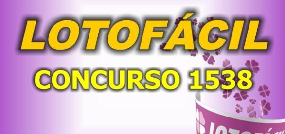 Sorteio da Lotofácil, pelo concurso 1538, confira o resultado