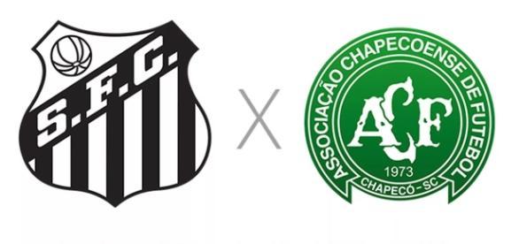 Santos e Chapecoense duelam na Vila Belmiro (Foto: Reprodução/ Montagem)
