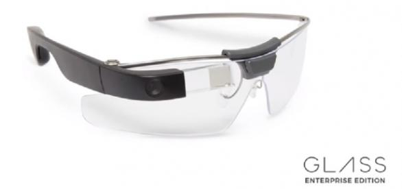 The Google Glass Enterprise Edition. [Image via YouTube/Engadget]