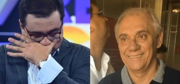 Marcelo Rezende posa com Geraldo Luís após rumor de briga: 'não me larga' ( Foto: Reprodução)