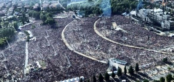 Modena Park, 220 mila spettatori paganti: impressionante il colpo d'occhio dall'alto
