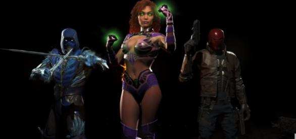 "A Starfire gameplay trailer for ""Injustice 2"" sounds plausible at SDCC this week while Black Manta is leaked again. PlayStation/YouTube"