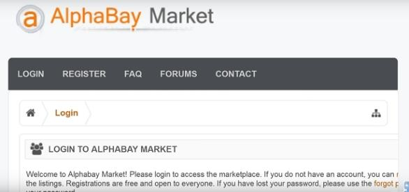 AlphaBay Website Image via sk2eu/YouTube screen cap https://www.youtube.com/watch?v=TwmfJJyQQlo