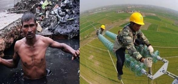 Eles trabalham em condições perigosas ( Foto - Reprodução )