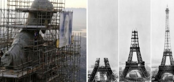 Monumentos históricos durante suas construções