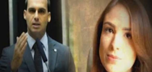 Suposta ex-namorada de Eduardo Bolsonaro faz acusações