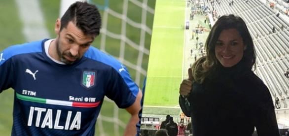 Gianluigi junto a su mujer pillados