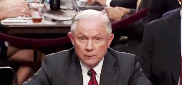Jeff Sessions will not quit as AG despite pressure from Trump. Image credit - The Young Turks/YouTube.