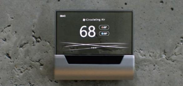 Microsoft unveils Cortana-powered thermostat / Photo via Microsoft (YouTube)