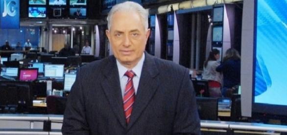 William Waack se afasta do 'Jornal da Globo' para procedimento de cateterismo (Foto: Reprodução)