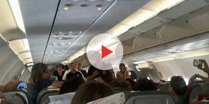 Gleisi Hoffmann é hostilizada em avião (Foto: Captura de vídeo)