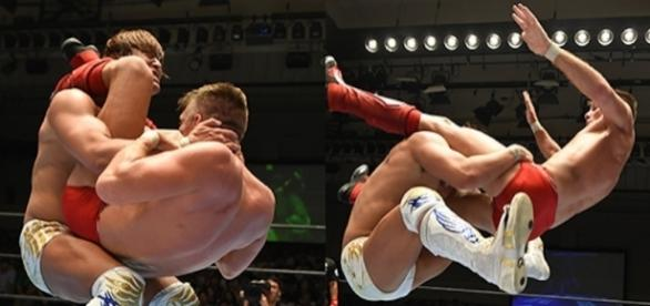 Ibushi pudo derrotar en una lucha de ensueño a Sabre Jr. njpw.co.jp.