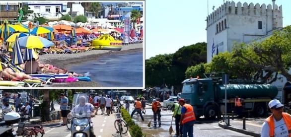 A vida retorna à normalidade depois do terremoto que matou 2 pessoas na ilha grega de Kos