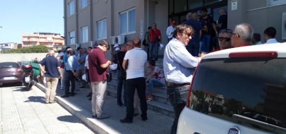 Ingresso uffici regionali in via Modena