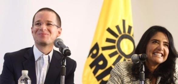 Ricardo Anaya, Presidente del PAN. Alejandra Barrales, presidente del PRD.