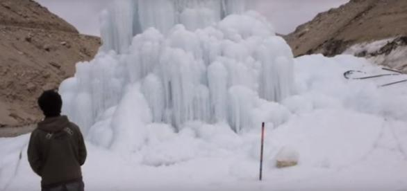 The Monk, The Engineer and The Artificial Glacier-via Sonam Wangchuk youtube channel