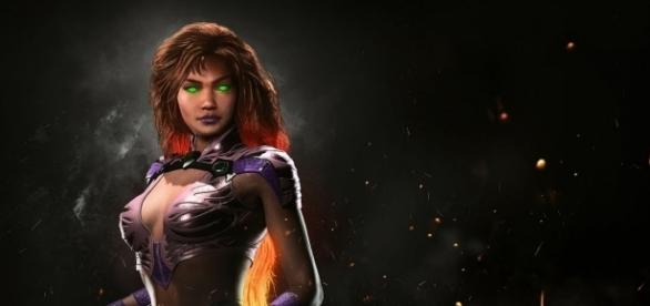 "The newest hero to embrace ""Injustice 2"" is none other than Starfire (via YouTube/Injustice)"