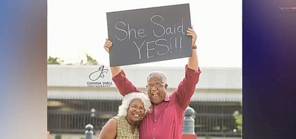 Enthusiastic celebration of their engagement is truly uplifting- YouTube/Femail Online Channel