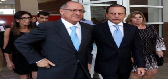 Geraldo Alckmin e João Doria, aliados políticos