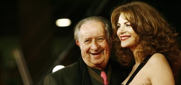 Tinto Brass con la futura moglie Caterina Varzi