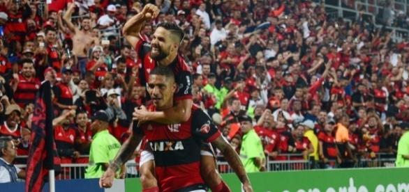 Diego e Guerrero, as estrelas do Flamengo (Via- globo.com)
