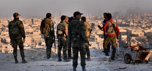 Immagini di repertorio della guerra siriana