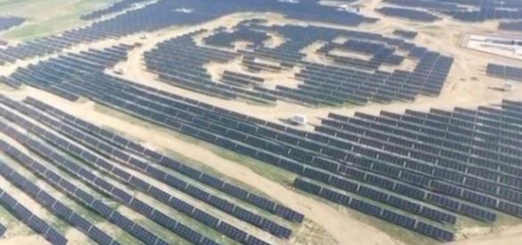 Vedere aeriană a unei centrale solare PANDA construită de Green Energy Group în China - Foto: Panda Green Energy Group/Handout via REUTERS