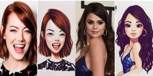 Ilustrações inspiradas em famosos (Foto: Reprodução)