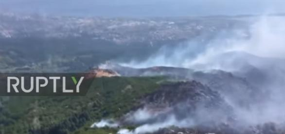 France: Planes and fire engines battle huge forest fires in Corsica - Image -Ruptly TV | YouTube