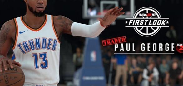 Paul George NBA 2K18 screenshots/ photo by @NBA2K via Twitter