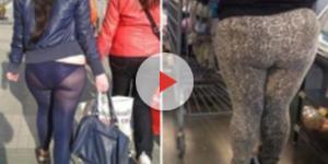 Imagens que mostram a importância na escolha da calça legging (Fonte:www.ohmymag.com.br/legging/olha-so-a-calcinha-esta-combinando_pic6190.html)