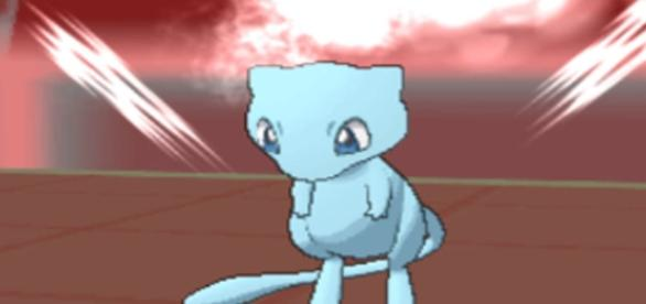 A shiny variant of Mew from 'Pokemon X and Y' (image source: YouTube/PIMPNITE)