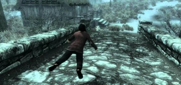 Air Swimmers in 'Skyrim' (image source: YouTube/ConnorRCS)