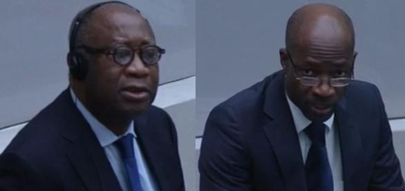 Le président Laurent Gbagbo et Charles Blé Goudé (Droits réservés)