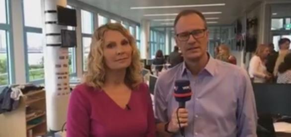Moderatoren Susanne Wieseler und Thomas Bug meldeten sich aus der Redaktion und erklärten den Black Out im WDR / Foto: WDR