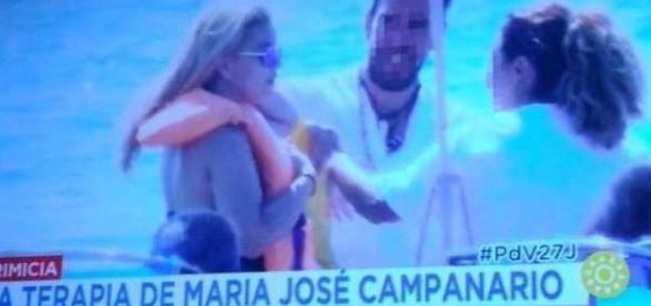Una María José Campanario irreconocible reaparece en la playa
