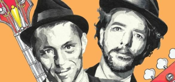 Alex Britti e Max Gazzè in concerto a Roma.