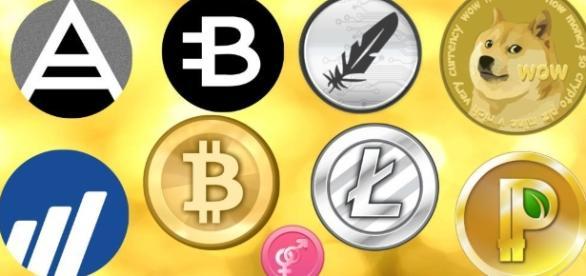 As várias moedas virtuais existentes. ( Imagem: Google)