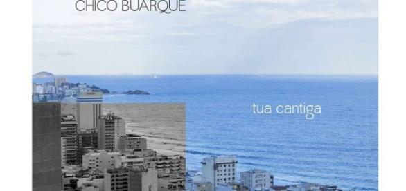 Detalhe da capa de ''Tua Cantiga'', inspirada em arte do projeto gráfico de Cássia D'Elia para o novo álbum de Chico Buarque