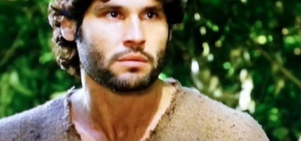 Asher enfrenta Nebuzaradã após o assassinato do rei (Foto:Reprodução/Record TV)