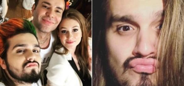 O antes e depois do Luan Santana (Foto: Reprodução/Instagram)