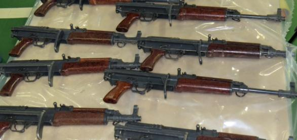 Automatic riffles seized by the NCA is a previous raid