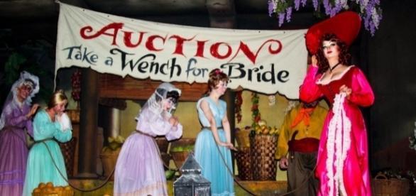 The original set piece from the 'Pirates of the Caribbean' ride (Image Credit: 'Ms. Magazine' Blog/msmagazine.com)