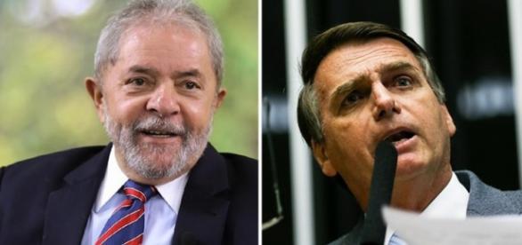 Bolsonaro e o ex-presidente Lula